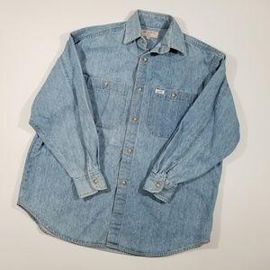 Vintage 90s Guess Denim Shirt Small